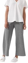 Jigsaw Sculptural Jersey Wide Leg Trousers, Pale Grey