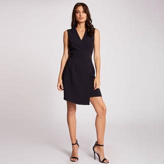 Morgan Short Asymmetric Wrapover Dress