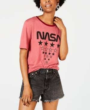 Freeze 24-7 7 7 Juniors' Nasa Graphic Ringer T-Shirt