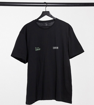 New Look PLUS palm print t-shirt in black