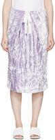 Victoria Beckham Purple Velvet Skirt