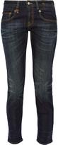 R 13 Boy Skinny Mid-rise Boyfriend Jeans - Dark denim