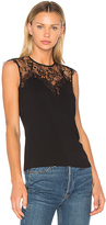 Carven Lace Top in Black
