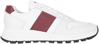 Prada Logo Embossed Panelled Sneakers