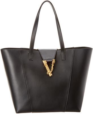 Versace Virtus Leather Tote