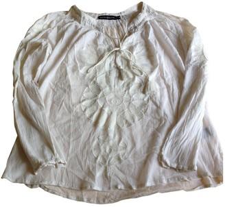 Antik Batik Ecru Cotton Top for Women