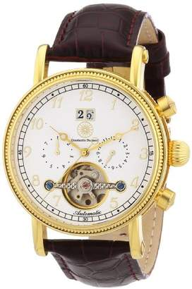 Constantin Durmont Men's Automatic Watch Tradition CD-TRAD-at-LT-GDGD-WH with Leather Strap