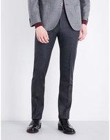 Corneliani Slim-fit mid-rise wool trousers