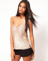 Asos Cami With All Over Sequin Embellishment