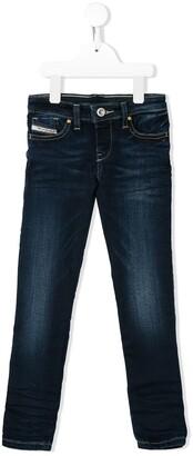 Diesel Slim-Fit Contrast-Stitching Jeans