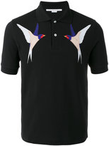 Stella McCartney embroidered swallow polo shirt