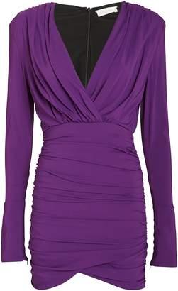 Ronny Kobo Mariana Draped Jersey Mini Dress