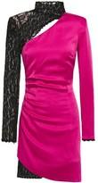 Dundas Cutout Embellished Lace And Satin-crepe Mini Dress