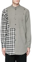 Song For The Mute Mix patchwork shirt