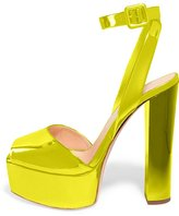 FSJ Women Superb Platform Sandals with Ankle Strap Buckled Thick heels Pumps Sizes 13