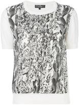 Salvatore Ferragamo Orange Fiber print top - women - Silk/Cotton/Viscose/cellulose - S