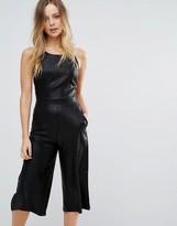 Wal G Metallic Culotte Jumpsuit