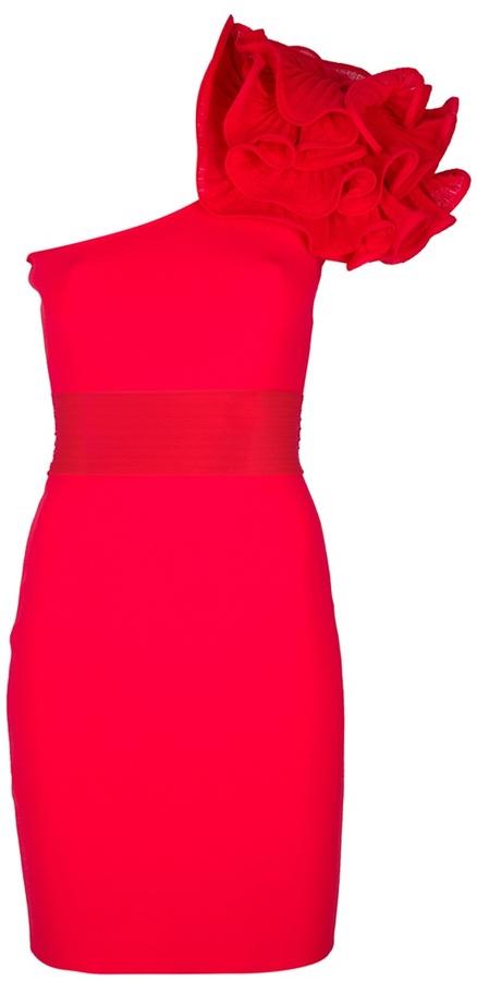 Valenti Antonino one shoulder bodycon dress
