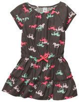 Carter's Cap-Sleeve Twill Print Dress