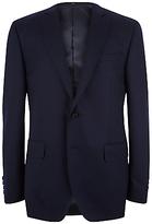 Jaeger Super 120s Wool Regular Fit Suit Jacket, Navy