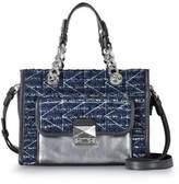 Karl Lagerfeld Women's Blue Leather Shoulder Bag.