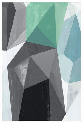 Jonathan Bass Studio Glass Vase 5, Decorative Framed Hand Embellished C