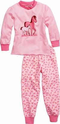 Playshoes Girl's Schlafanzug Single-Jersey Pferde Pyjama Set