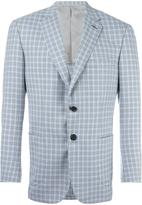 Brioni checked blazer - men - Cupro/Wool - 50