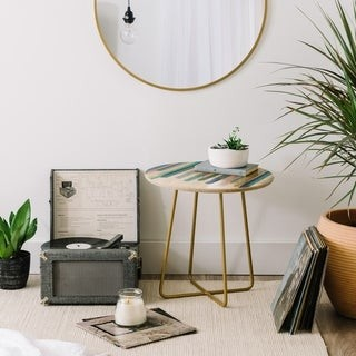 Deny Designs Pastel Stripes Side Table