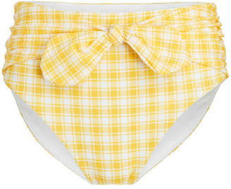 Veronica Beard Azoia Gingham Tie Bikini Bottoms
