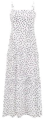 Heidi Klein Santa Margherita Ligure Tiered Silk Dress - White Print
