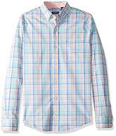 Izod Men's Slim Fit Button Down Long Sleeve Stretch Performance Check Shirt