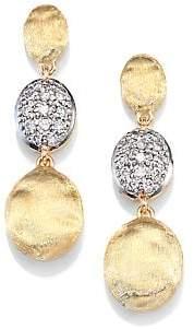 Marco Bicego Women's Siviglia Diamond & 18K Yellow Gold Triple-Drop Earrings