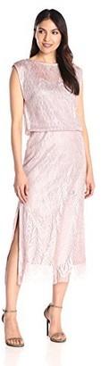 SL Fashions Women's Blouson Crochet Dress
