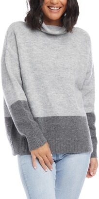 Karen Kane Turtleneck Colorblock Sweater