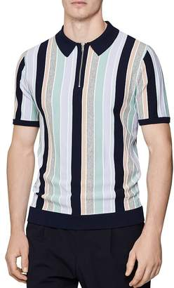 Reiss Princeton Vertical Stripe Regular Fit Polo Shirt