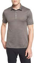 Ermenegildo Zegna Herringbone Polo Shirt, Brown