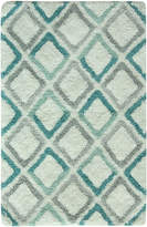 "Bacova Dante Cotton 20"" x 30"" Diamond-Print Accent Rug"
