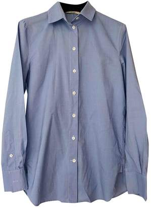 Celine Blue Cotton Top for Women