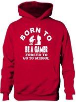Print4u Born To Be A Gamer Hoodie Boys Girls Kids Funny Present Gift Age 12-13