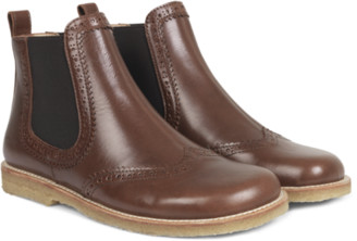Angulus Chelsea Boots Brogue Brown - 38