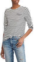 Polo Ralph Lauren Long-Sleeve Striped Cotton Tee