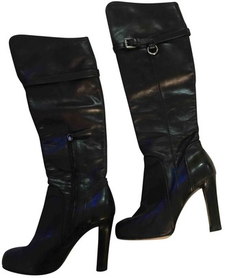 DSQUARED2 Black Leather Boots