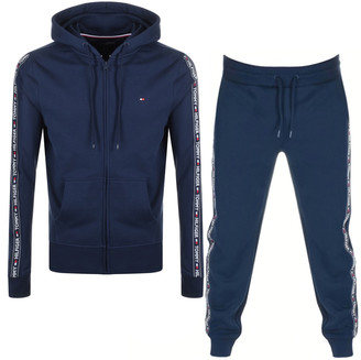 Tommy Hilfiger Lounge Taped Tracksuit Navy
