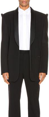 Balenciaga Suspend Tux Jacket in Black | FWRD