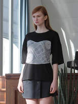 Wardrobe Flare Paisley T-shirt_black