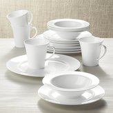 Crate & Barrel White Pearl 16-Piece Dinnerware Set
