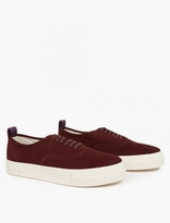 Eytys Burgundy Suede 'Mother' Sneakers