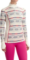 Helly Hansen Mid Graphic Base Layer Shirt - Merino Wool, Zip Neck (For Women)