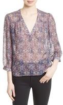Joie Women's Frazier B Print Silk Blend Top